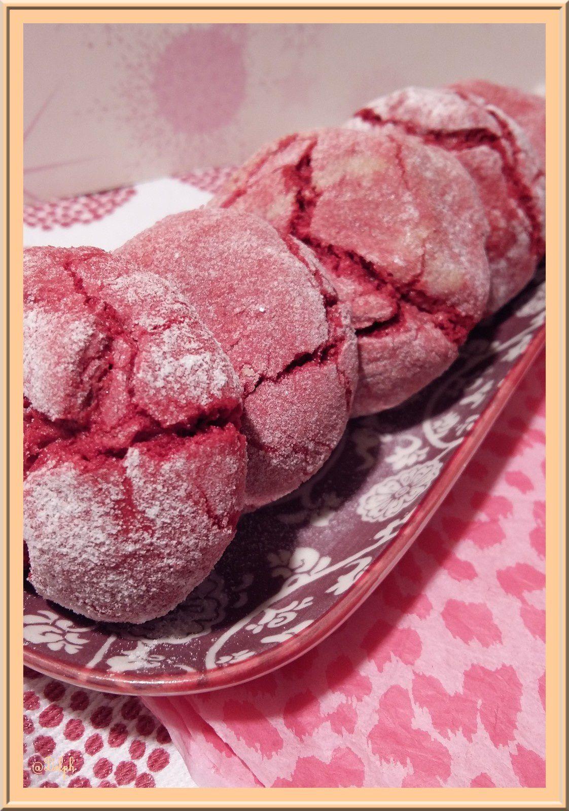 Craquelés aux biscuits roses de Reims