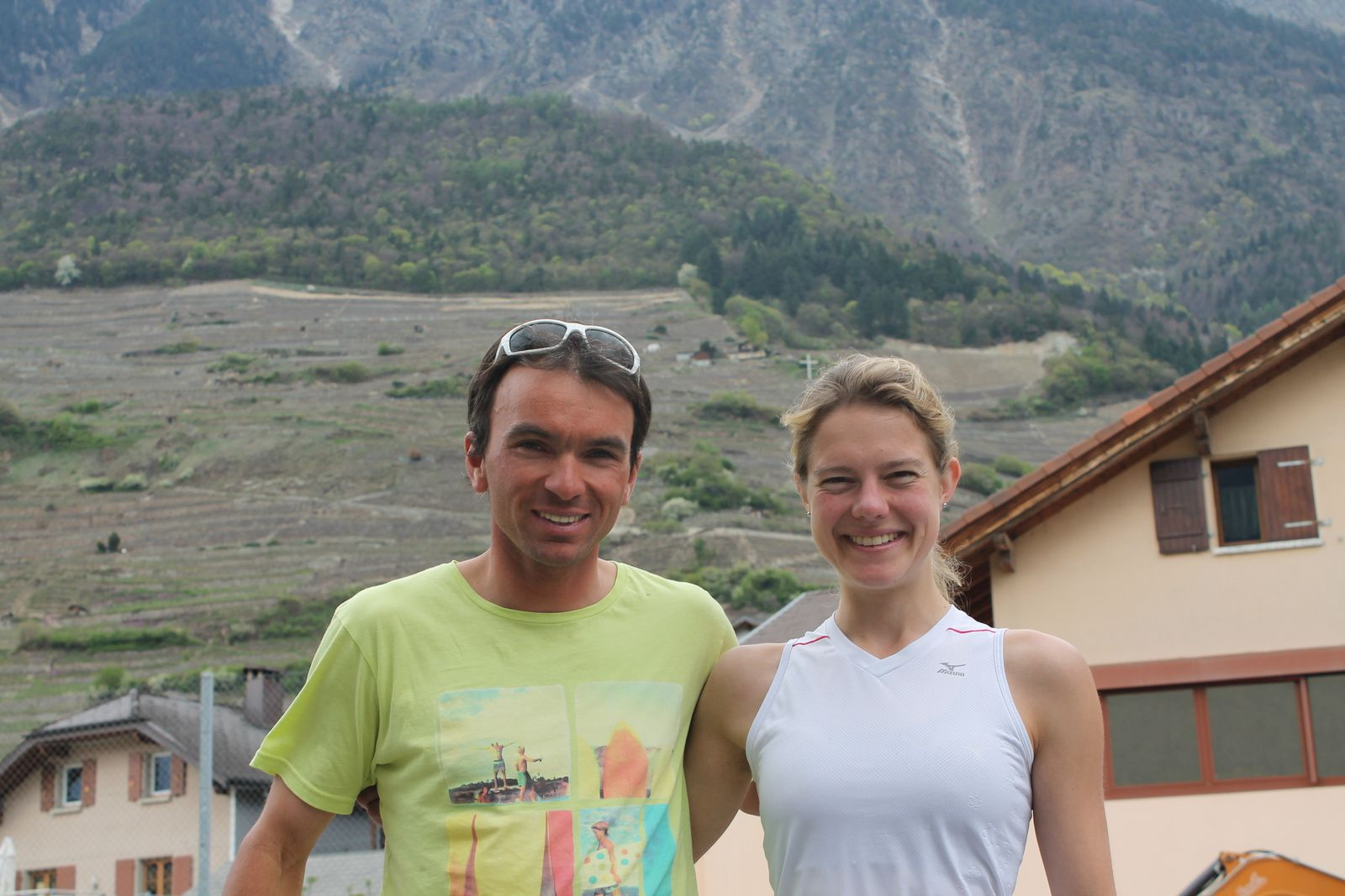 Bertrand Lovey et Maya Chollet, vainqueurs de la 1re édition du Duathlon du Valais