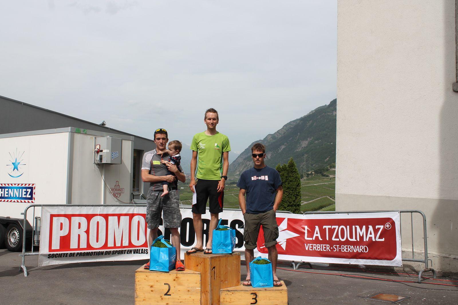 Le podium des hommes avec, de g. à dr., Nançoz, Janin, Jordan