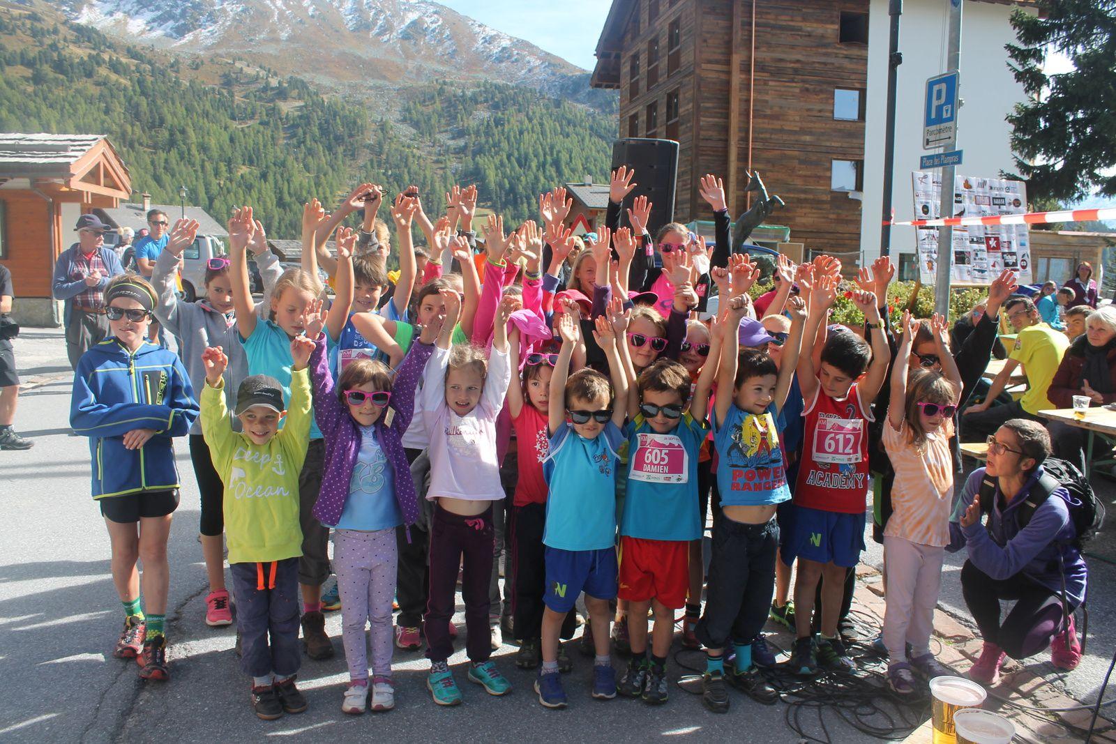 HEUREUX! Les enfants ont répondu présents à l'appel des organisateurs.