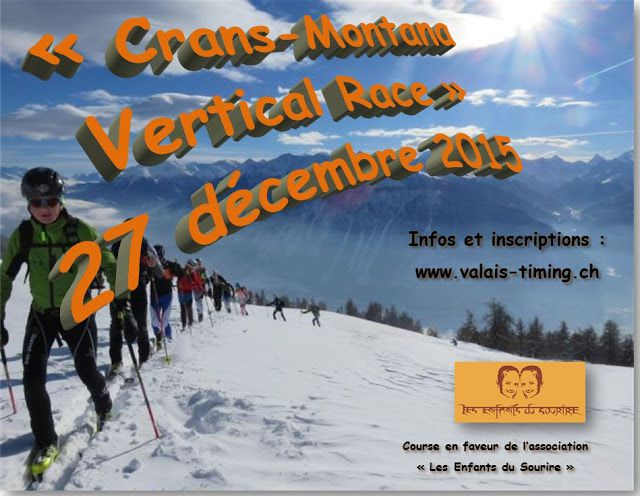 "Bienvenue à la 1re édition de la ""Crans-Montana Vertical Race"""