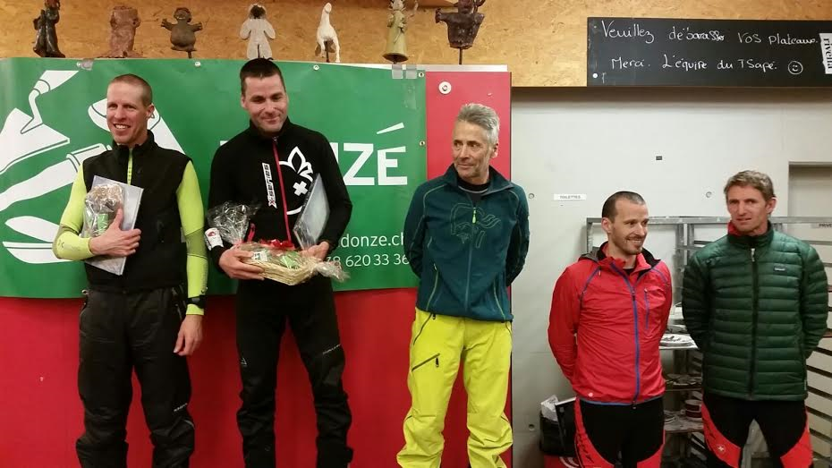 Les podiums de la 1re édition de la Nocturne de Chandolin