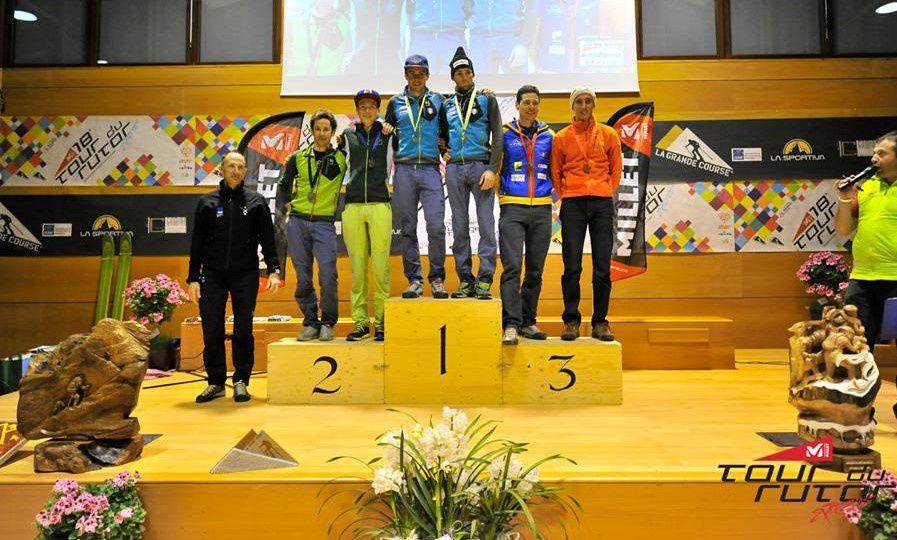 Les podiums hommes et dams du Tour du Rutor 2016 (photos: Tour du Rutor)