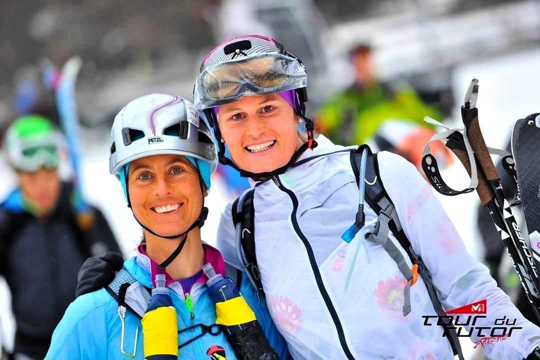 Paola Cavalli et Céine Baillod se classent 2es Suissesses et 8es féminines sur le Tour du Rutor 2016 (photo: Tour du Rutor)