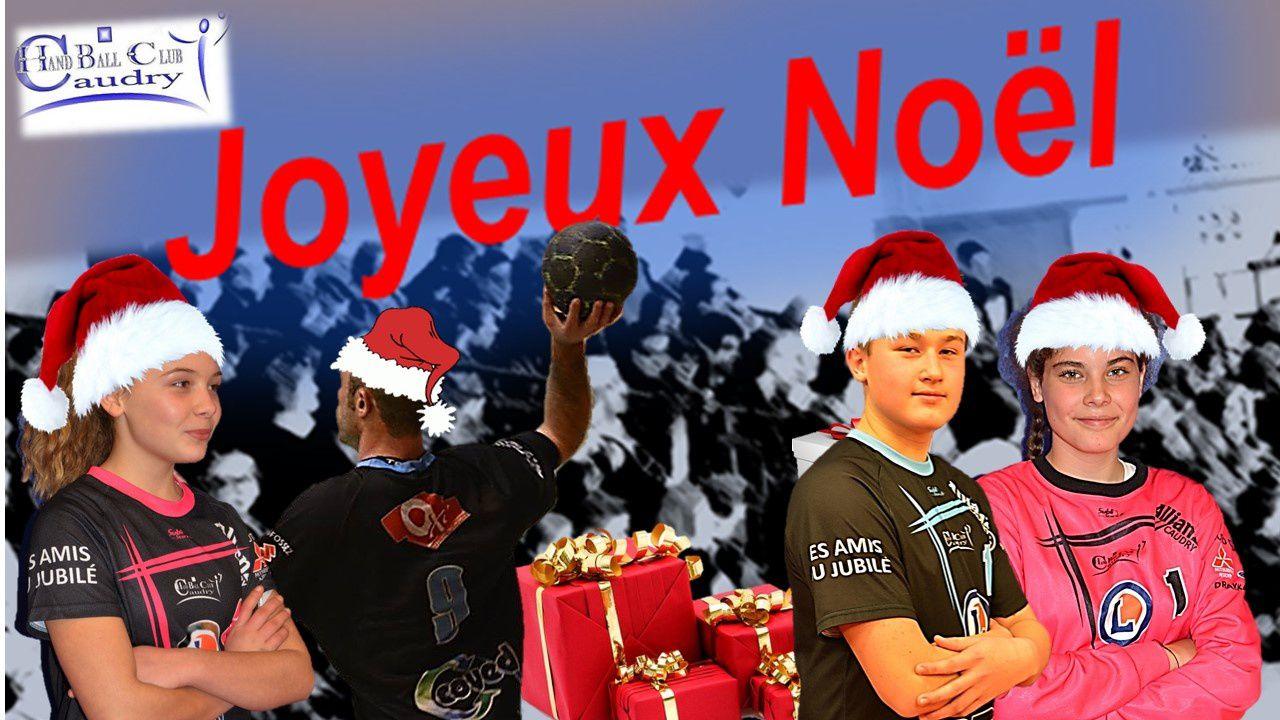 L'ensemble des acteurs du HBC CAUDRY vous souhaitent un JOYEUX NOEL....