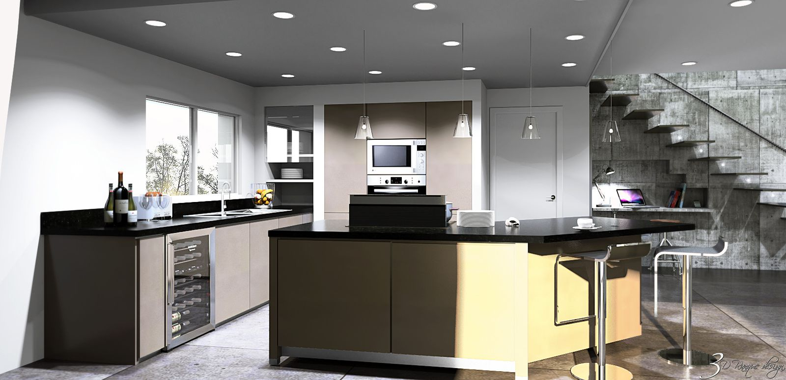 Cr ation d 39 un grand espace int grant s jour salle manger et cuisine d 39 une surface de 70 m2 for Creation cuisine