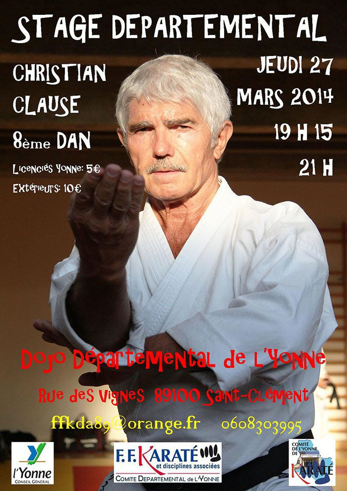STAGE avec Christian CLAUSE JEUDI 27 MARS