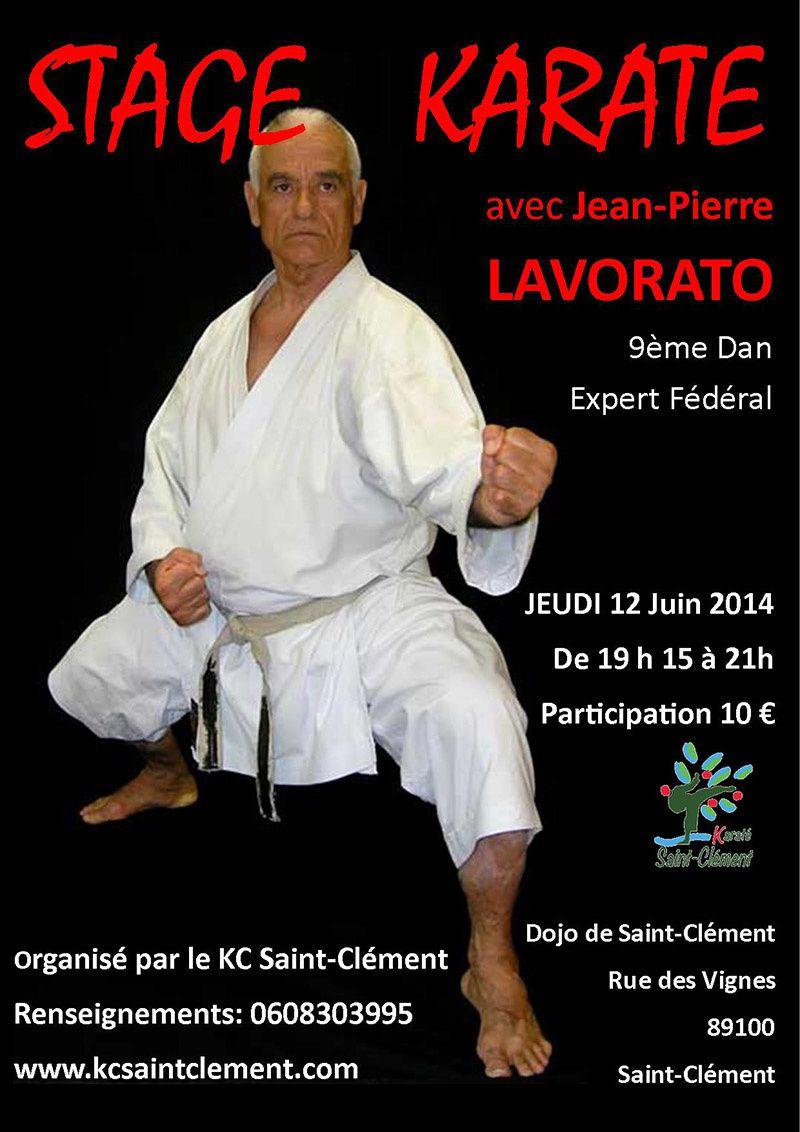 STAGE Jean Pierre LAVORATO Jeudi 12 Juin