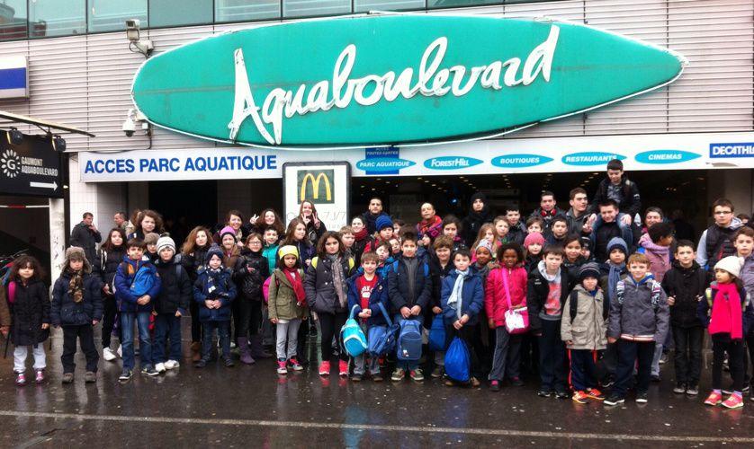 Fin de stage à Aquaboulevard