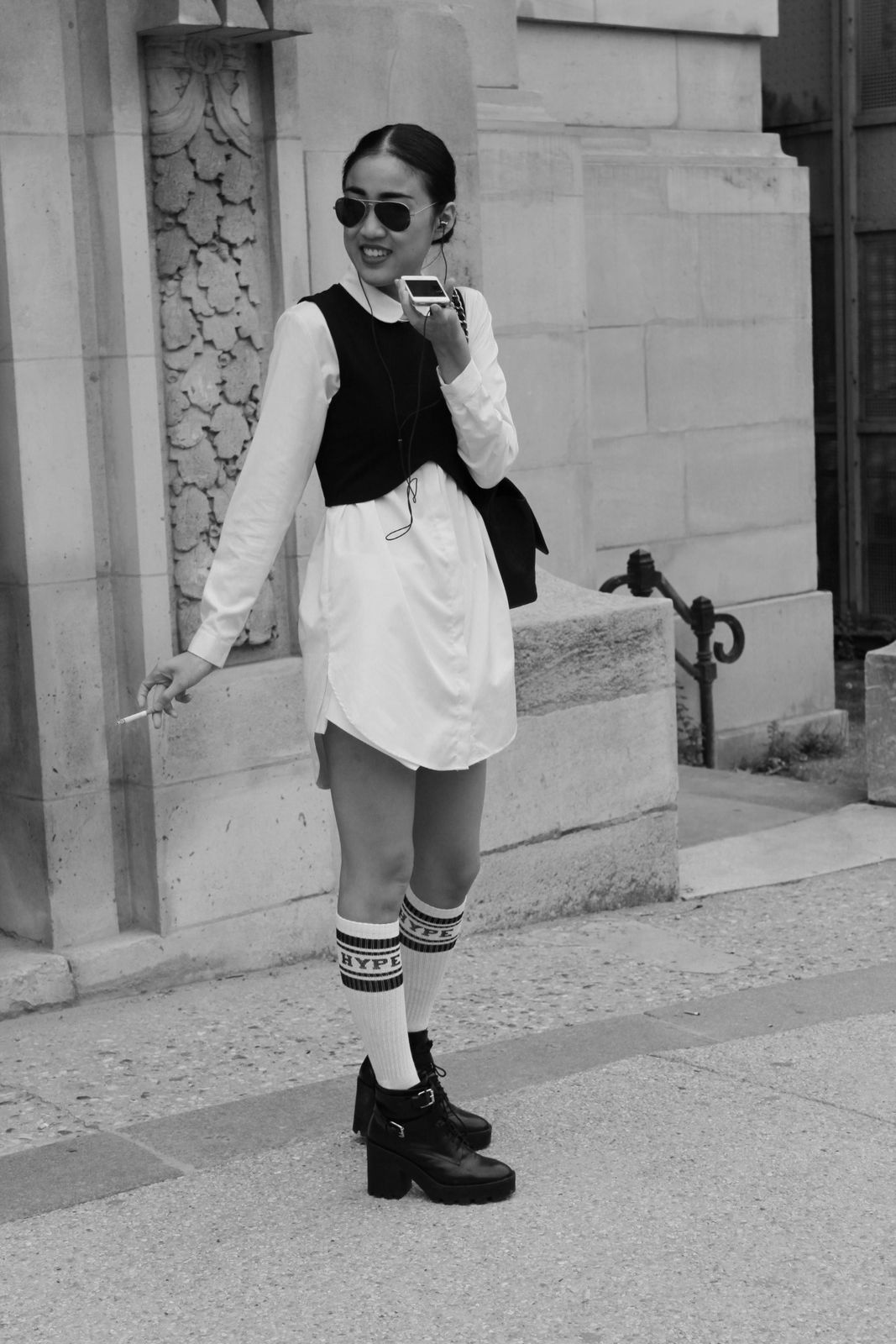 Fashion week #girlsinblackandwhite