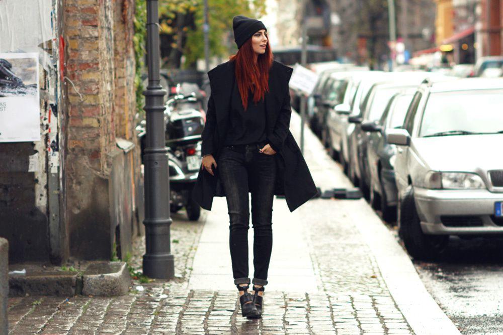 Outfit: komplett in Schwarz