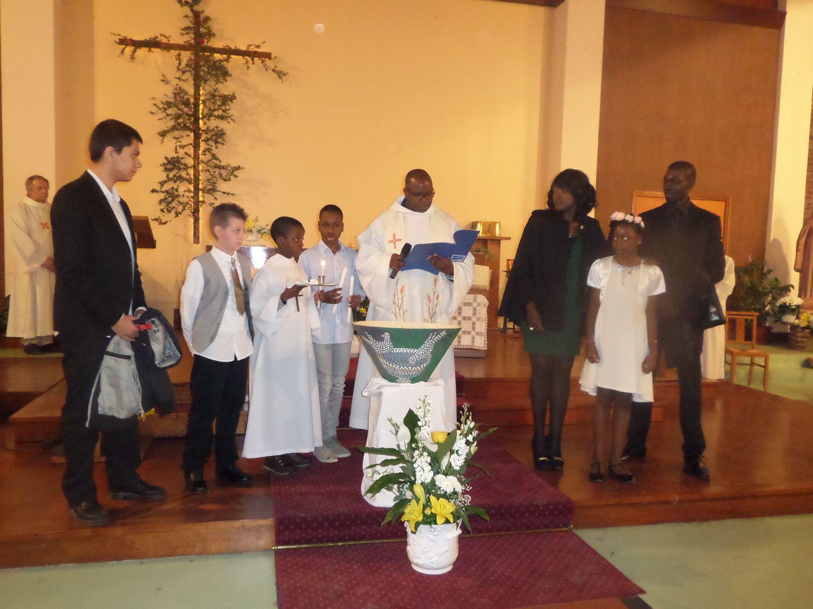 Veillée Pascale et baptême de Florian et Fiona