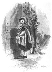 """Illustration de la phrase """"Tire la chevillette et la bobinette cherra"""" par F.O.C.Darley en 1850 (Source Wikipédia)"""