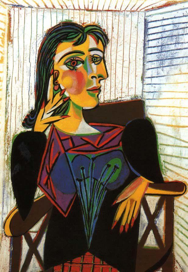 Portrait peut-être le plus connu, réalisé en 1937. Portrait de Dora Maar 5.