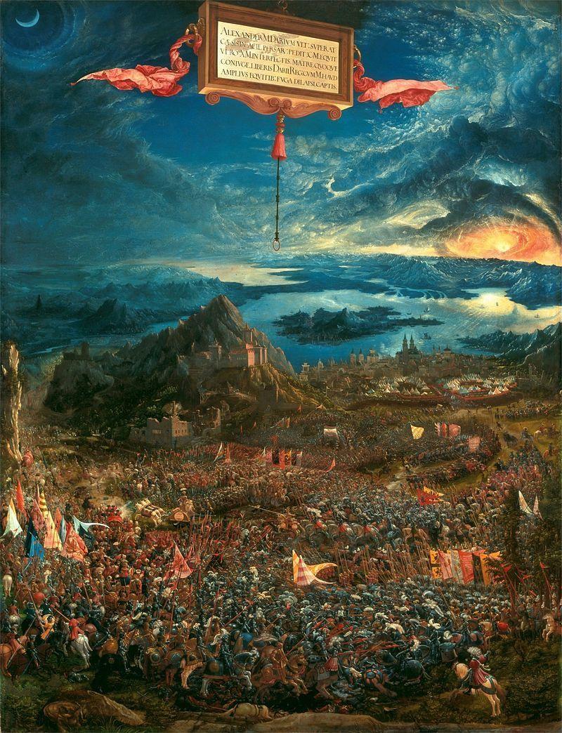 """""""La Bataille d'Alexandre à Issos"""" d'Albrecht Altdorfer - 1529."""