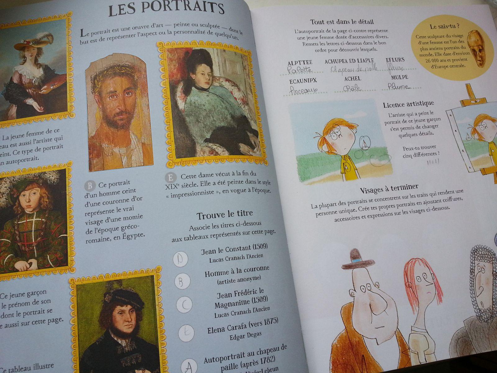 Jouer et découvrir #36 – Cahier d'activités L'Art (Usborne – dès 6 ans)
