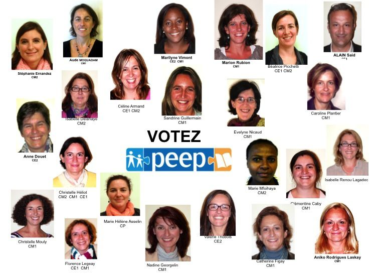 VOS CANDIDATS AUX ELECTIONS DE REPRESENTANTS DE PARENTS D'ELEVES