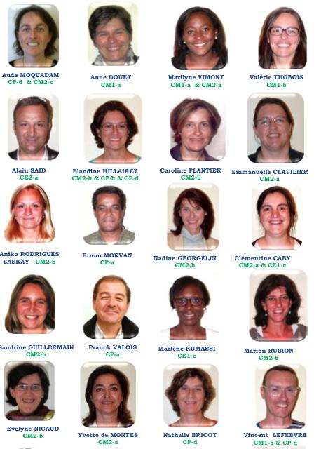 Les parents d'élèves élus pour 2014-2015