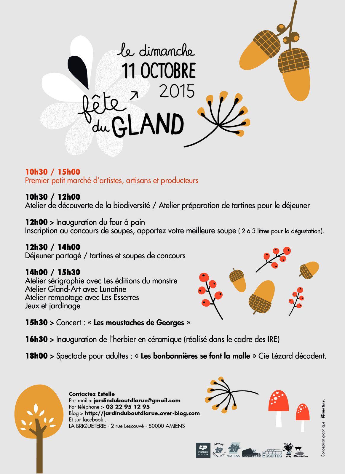 Week end événement les 10 et 11 octobre: RE-MUE et fête du gland