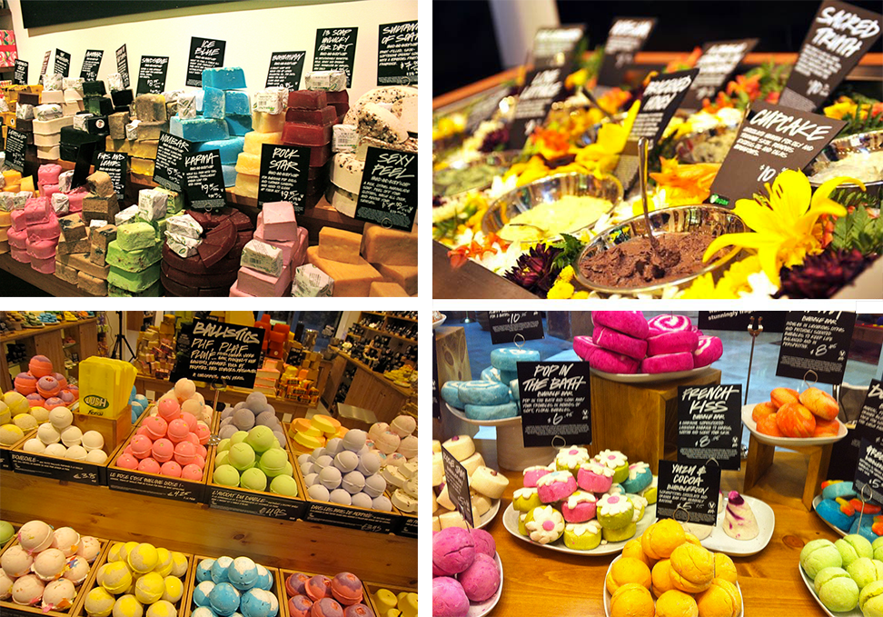 LUSH, un exemple de marque basée exclusivement sur le marketing poly-sensoriel !