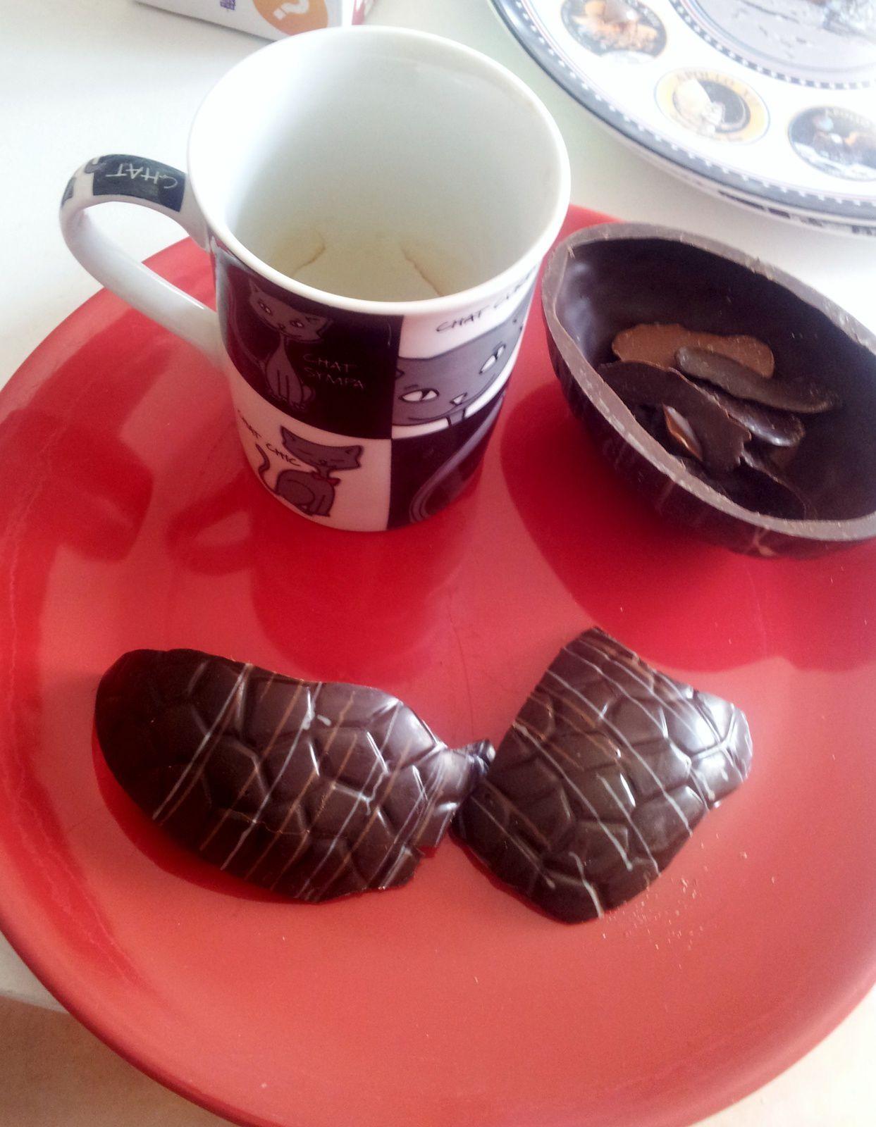 cacher jette chocolat