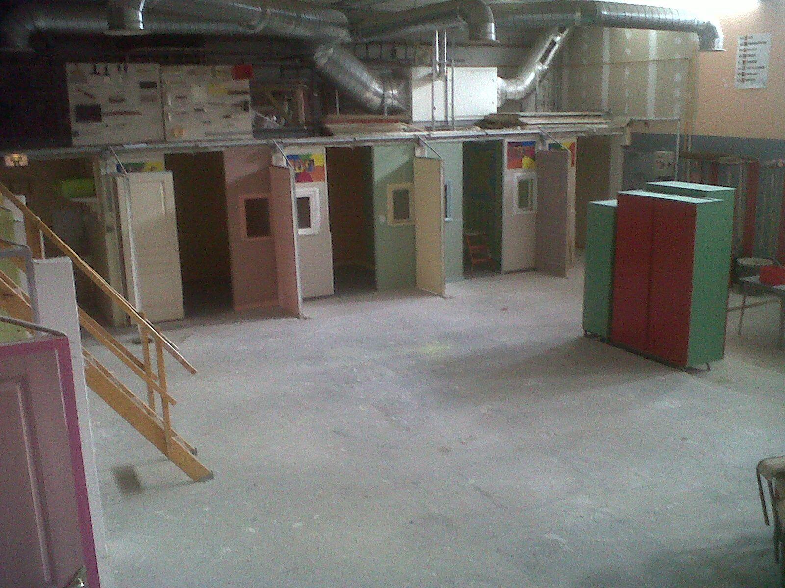 Atelier avec les cabines de chaque élève.
