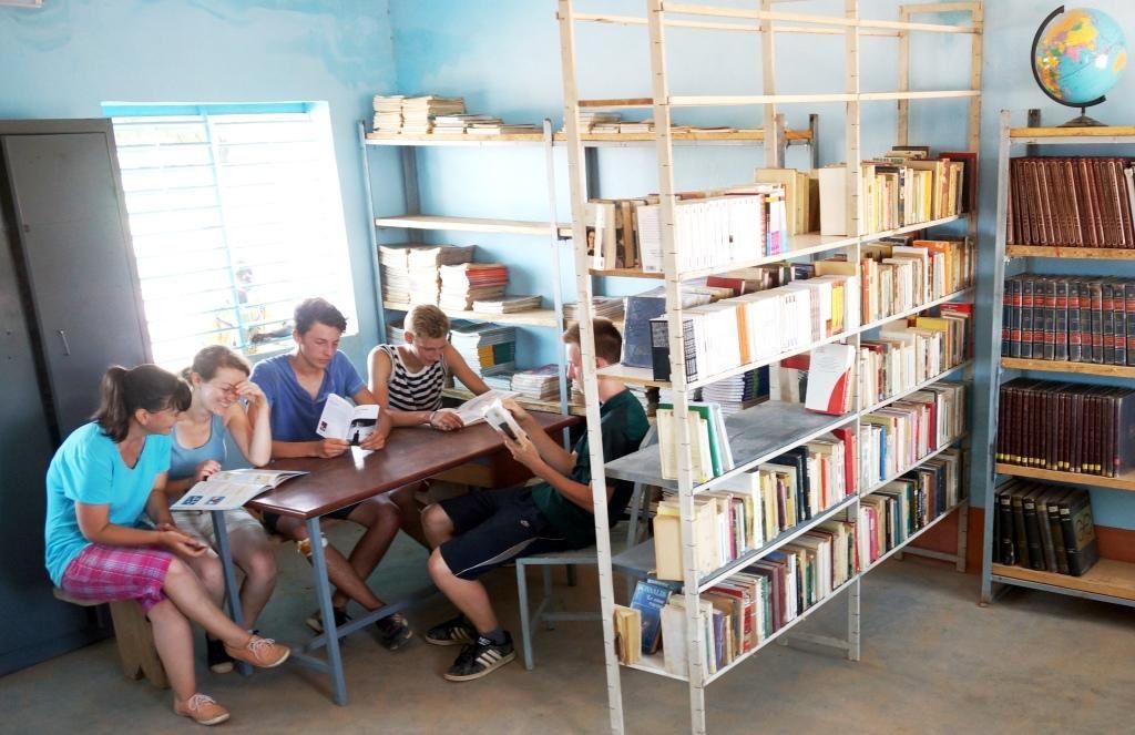La bibliothèque construite grâce au projet humanitaire.