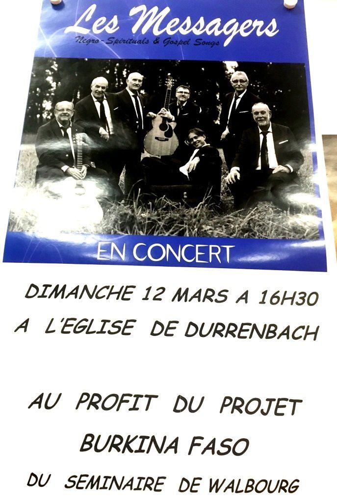 Les Messagers en concert à Durrenbach ce dimanche