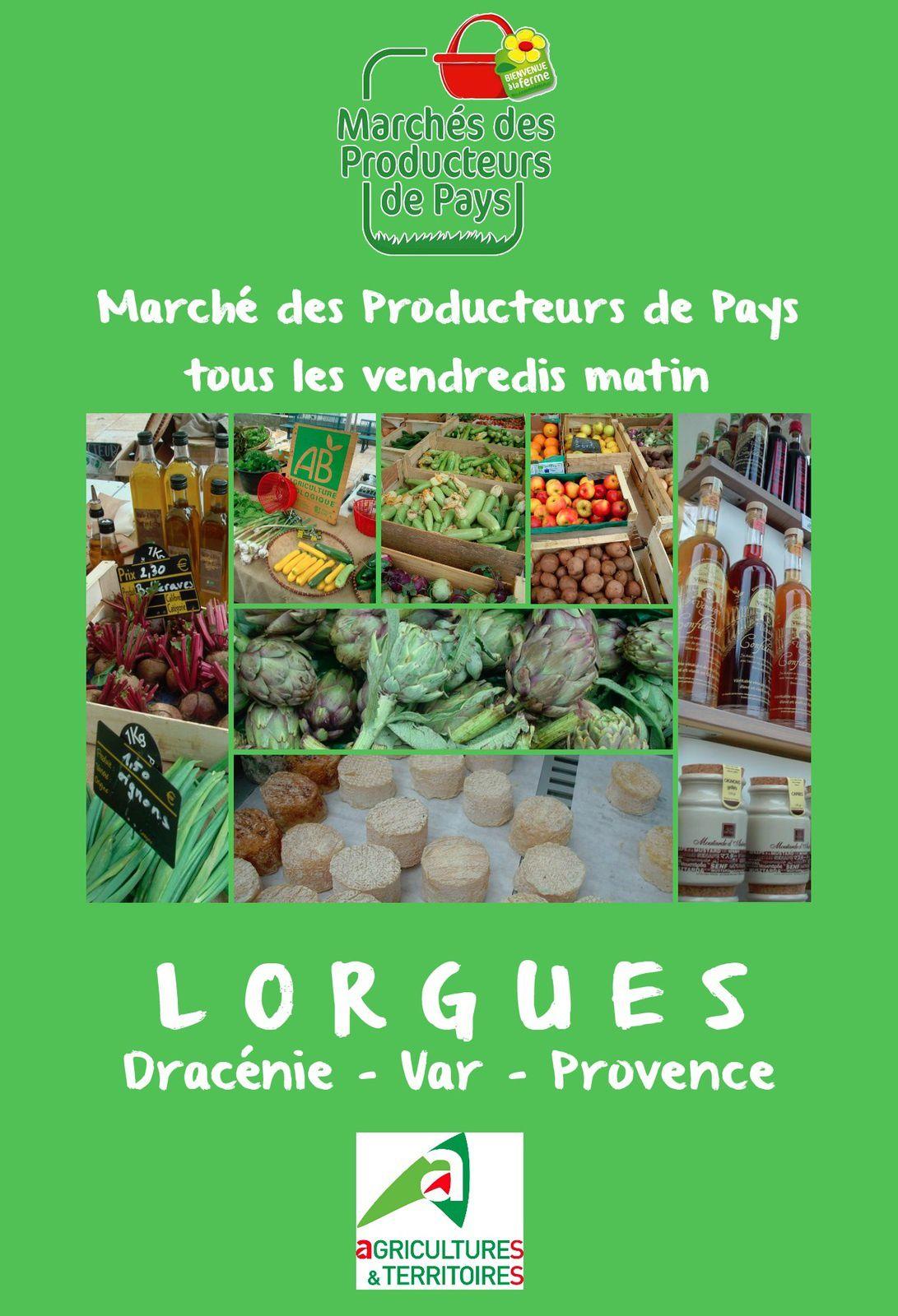Tous les vendredis matin à Lorgues, marché des producteurs de pays