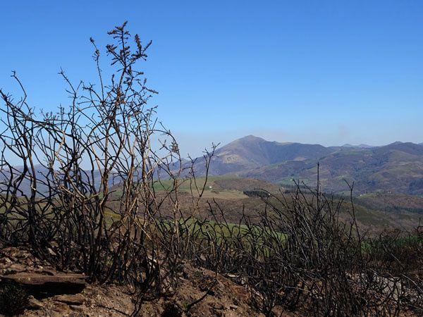 Pic de Legate ( 870 m ) depuis le village de Lekaroz. 16 mars 2017.