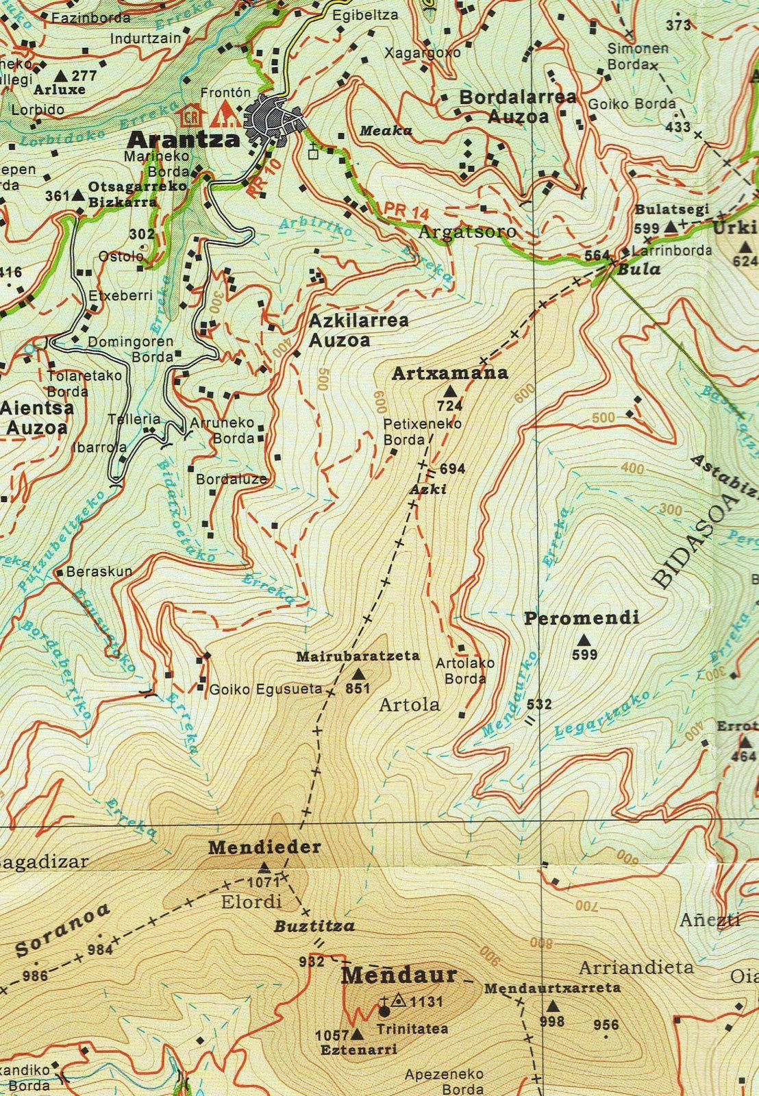 MENDAUR ( 1131 m ) depuis Arantza. 09 octobre 2017.
