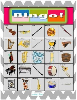 Bingo musical | teacherspayteachers.com