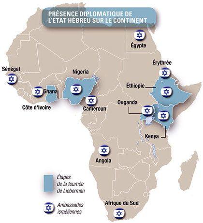 Présence diplomatique de l'Etat Hébreu en Afrique