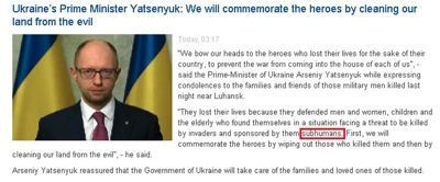 Source : Embassy of Ukraine in the United States, 15 juin 2014.