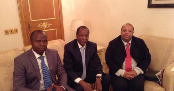 """Le dictateur reçoit les leaders du CRAN, orgaanisation fondée sur la défense des gens de couleur noire : """"Louis-Georges Tin et Guy Samuel Nyoumsi n'ont pu que remercier le président Compaoré de son accueil et de son écoute. Le CRAN qui a déjà rencontré la présidente de la commission de l'Union Africaine et le président de la Mauritanie, entend renforcer ainsi son ancrage sur le continent et participer au développement de l'Afrique."""""""