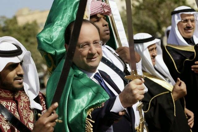 Image: French President Hollande in Saudi Arabia - among the most prolific state-sponsors of global terrorism on Earth and an irreplaceable partner in NATO's bid to reorder the Arab World.