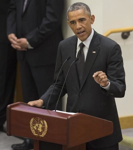 U.S. President Barack Obama speaks at the United Nations meeting in New York September 25, 2014 (Reuters)