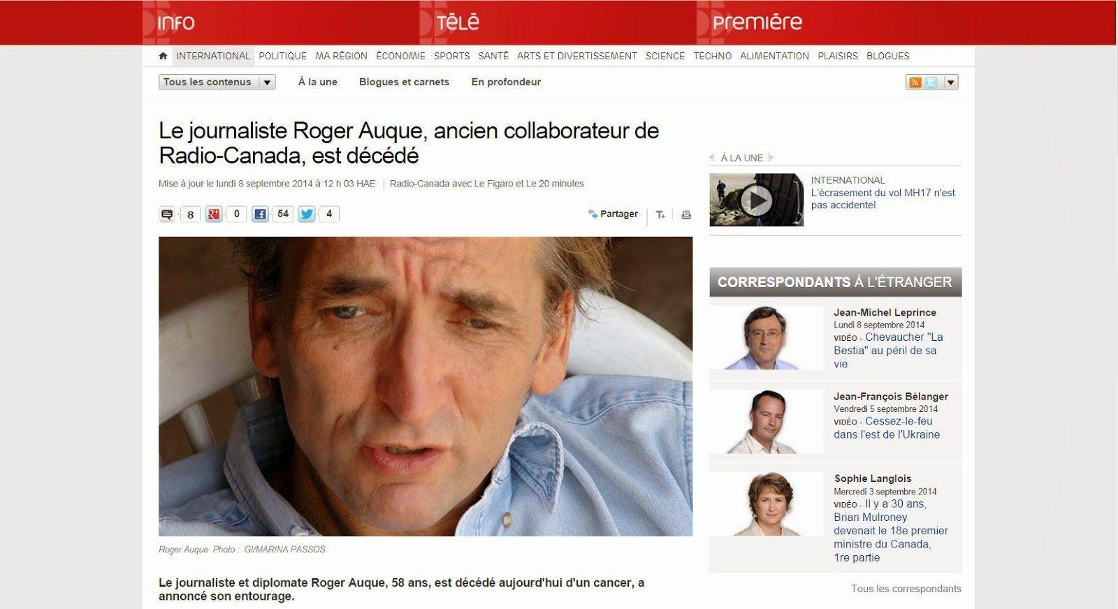 Le cas Roger Auque, journaliste et agent du Mossad, interpelle médias et journalistes (Mondialisation.ca)