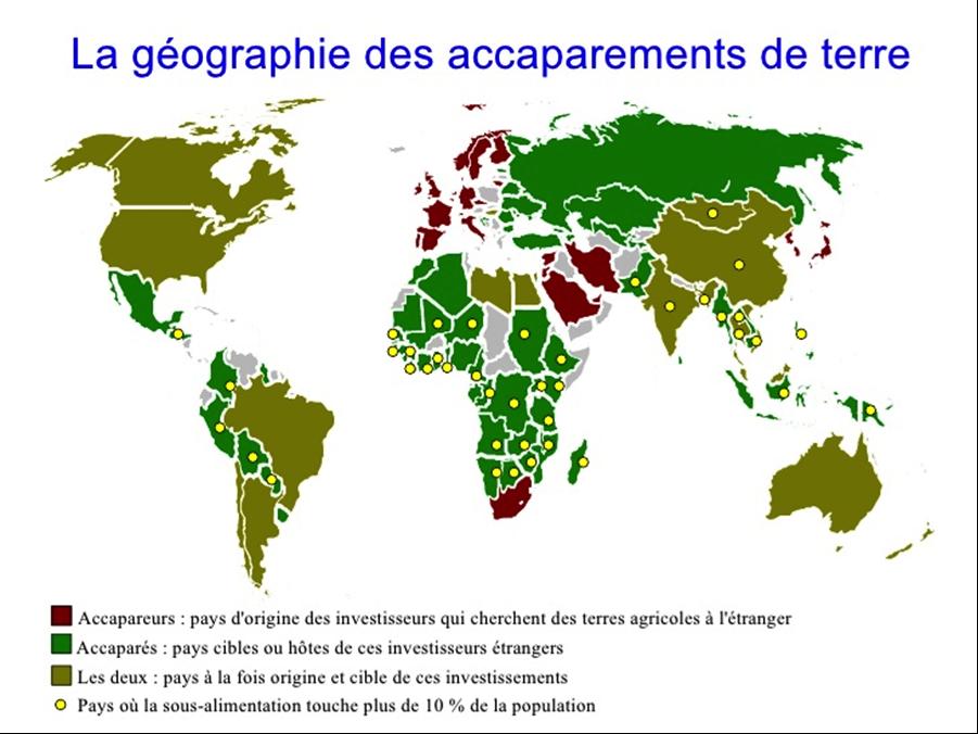 Source : http://fr.slideshare.net/hantarabeko/accaparement-des-terres-montage