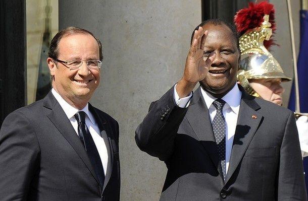 Françafrique. Hollande reçoit à l'Elysée Ouattara installé par l'armée française