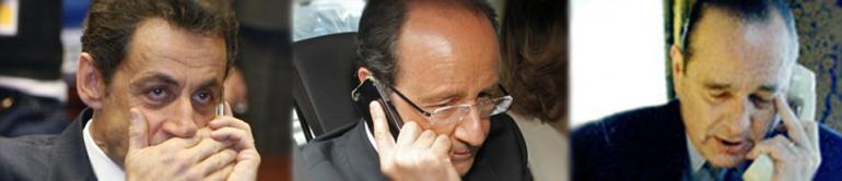 Les trois présidents français écoutés par la NSA © DR