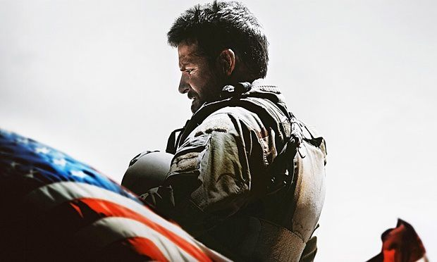 An icon for killing dozens of Iraqis … Bradley Cooper as Chris Kyle in American Sniper. Photograph: Allstar