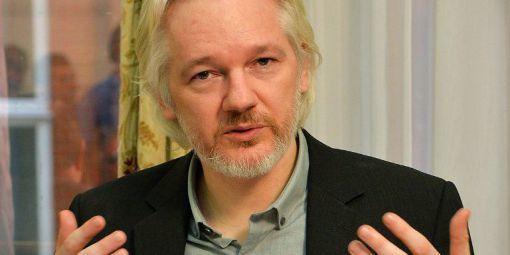 Julian Assange, cofondateur de Wikileaks, lors d'une conférence de presse à l'ambassade d'Equateur à Londres, le 18 août 2014.