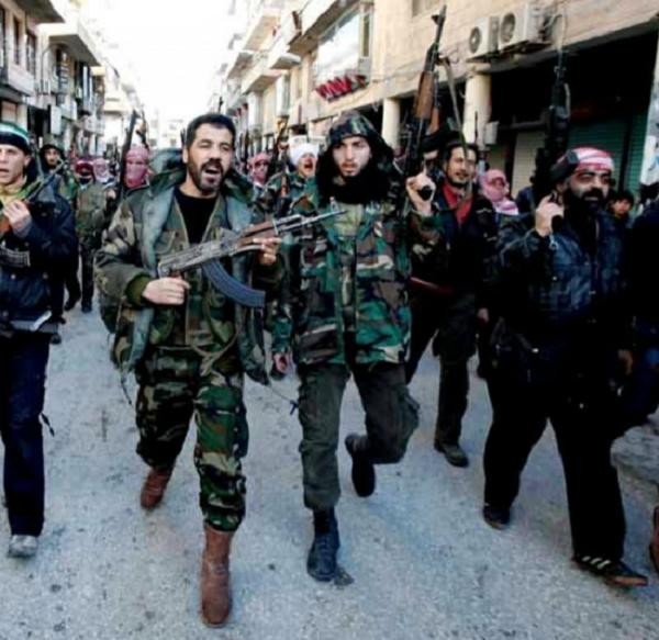 armee-syrienne-libre-550x535-2  Mercenaires de l'ASL: une création des services militaires occidentaux, glorifiés par des journalistes aux ordres