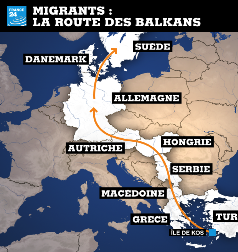 Source : http://www.france24.com/fr/20150825-video-migrants-refugies-syriens-hongrie-rozske-serbie-macedoine-route-balkans