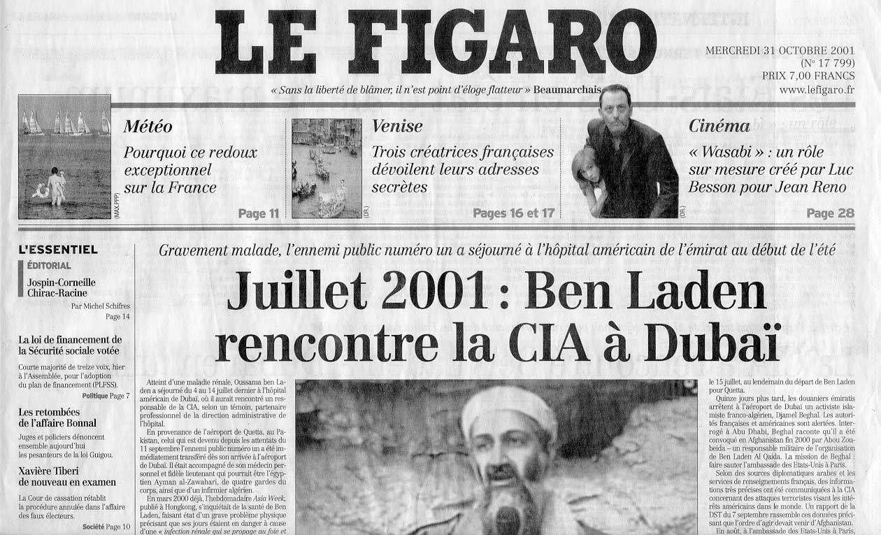 Le Figaro du 31 octobre 2001