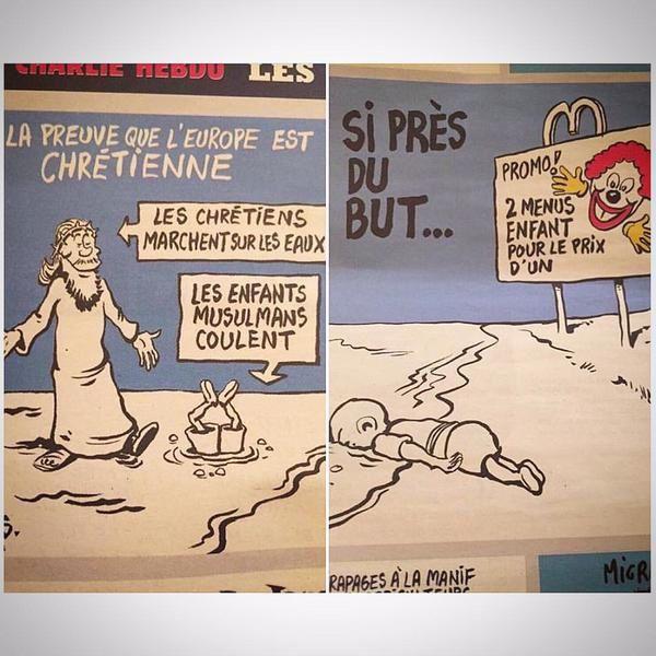 Les deux dessins de Charlie Hebdo qui choquent la blogosphère