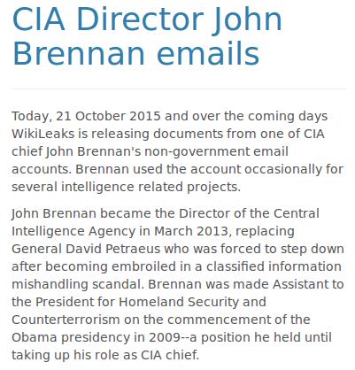 WikiLeaks publie les courriels du patron de la CIA (RT)