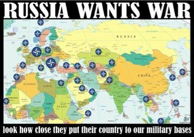 La Russie veut la guerre. Regardez comme elle a mis ses frontières à côté de nos bases militaires