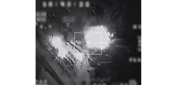 Photo : Bombardement de Mossoul (capture d'écran - 24/11/15)
